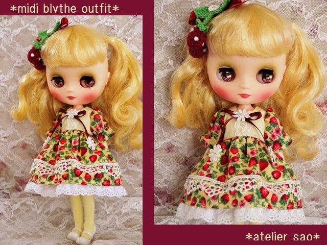 ◆ミディブライス服◆春いちごのドレス◇イエロー◇1