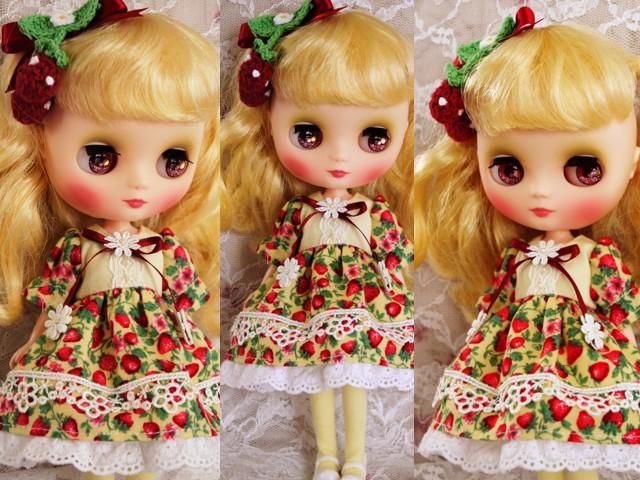◆ミディブライス服◆春いちごのドレス◇イエロー◇2