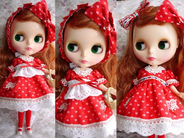 ◆ネオブライス服◆リボンと花とハートの赤ずきん◇2