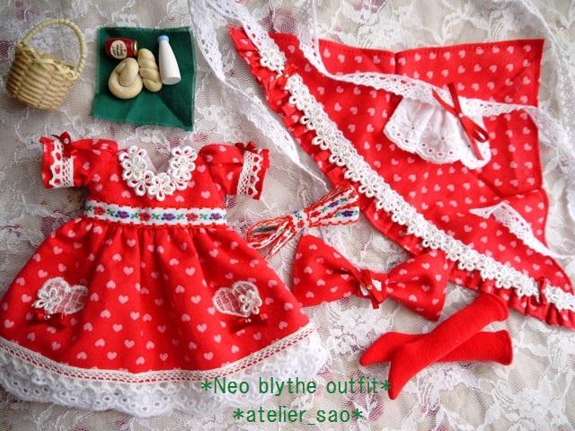 ◆ネオブライス服◆リボンと花とハートの赤ずきん◇3