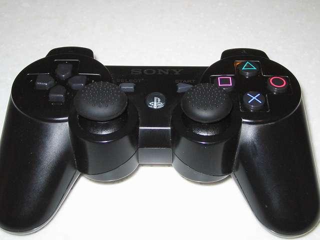 DS3 Dualshock3 デュアルショック3 Wireless Controller Black CECHZC2J A1 アタッチメント用 アクラス PS3用 コントローラーキャップセット アナログスティック用キャップ(ブツブツタイプ) 取り付け
