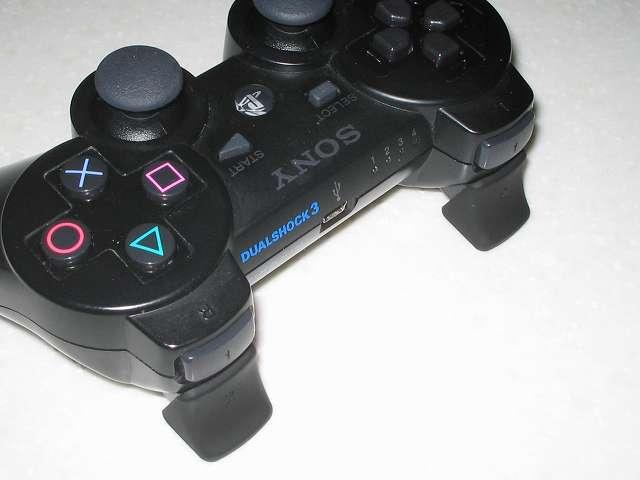 DS3 Dualshock3 デュアルショック3 Wireless Controller Black CECHZC2J A1 アタッチメント用 アンサー PS3用 プレイアップボタンセット ブラック 表面ラバー加工 L2・R2 ボタンアタッチメント取り付け