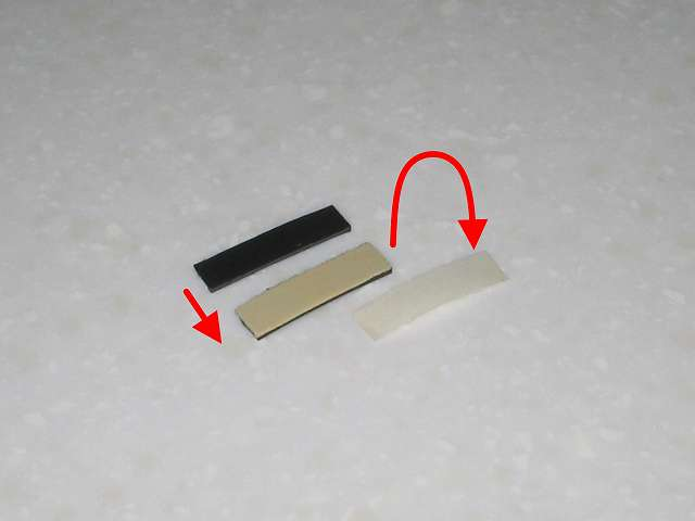 DS3 Dualshock3 デュアルショック3 Wireless Controller Black CECHZC2J A1 誤作動対策(Random Button Error Fix) 失敗事例、杉田エース 天然ゴムシート板 NR-5 に貼り付けた ニトムズ 多用途厚手両面テープ 徳用 No.523 J0070 を剥離してもう一枚同じサイズにカットした 杉田エース 天然ゴムシート板 NR-5 を貼り付け