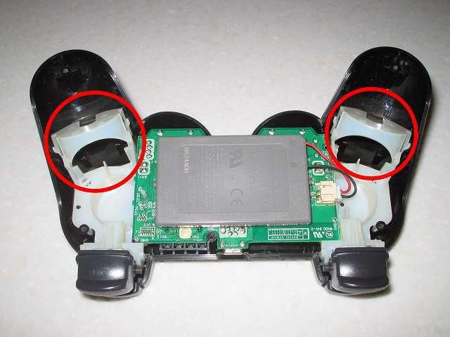DS3 Dualshock3 デュアルショック3 Wireless Controller Black CECHZC2J A1 振動モーター取り付け作業