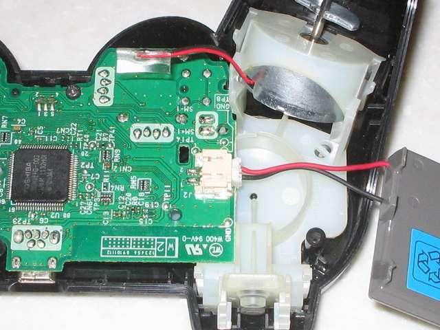 DS3 Dualshock3 デュアルショック3 Wireless Controller Black CECHZC2J A1 電子回路基板にリチウムイオンバッテリーのリード線コネクタを接続する