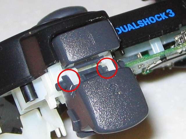 DS3 Dualshock3 デュアルショック3 Wireless Controller Black CECHZC2J A1 組み立て作業、L2・R2 ボタン取り付け後の状態