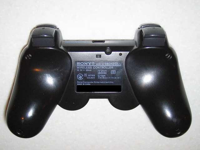 DS3 Dualshock3 デュアルショック3 Wireless Controller Black CECHZC2J A1 組み立て作業、コントローラー本体下部プラスチックカバーのネジ止め完了