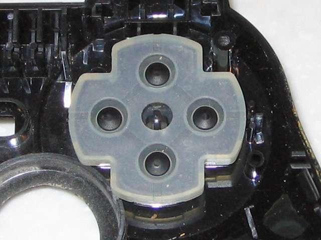 DS3 Dualshock3 デュアルショック3 Wireless Controller Black CECHZC2J A1 電子回路基板取り外し時に基板側にくっついていた十字キーのラバーパッド