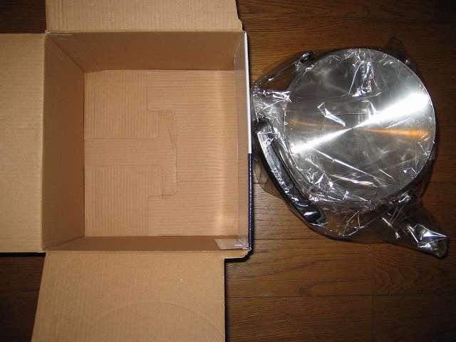 エルマース ステンレス製 広口 ケットル 3.2L H-2042 梱包箱から取り出し