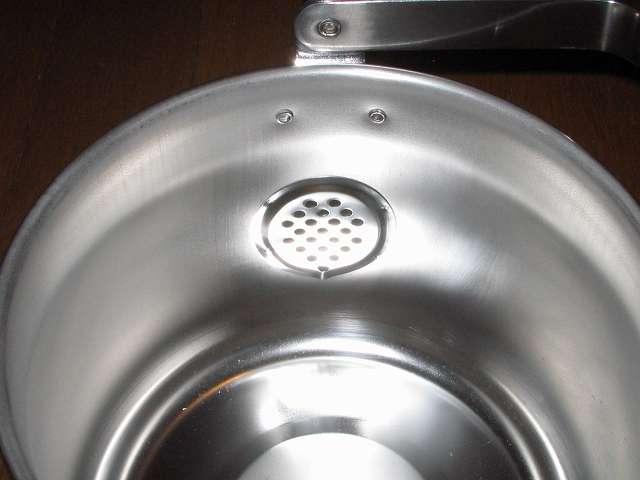 エルマース ステンレス製 広口 ケットル 3.2L H-2042 本体内部 注ぎ口側