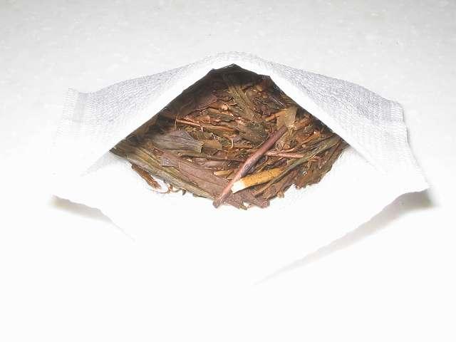トキワのお茶パック M ほうじ茶を入れたところ