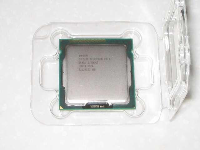 Intel Celeron G540 CPU表面