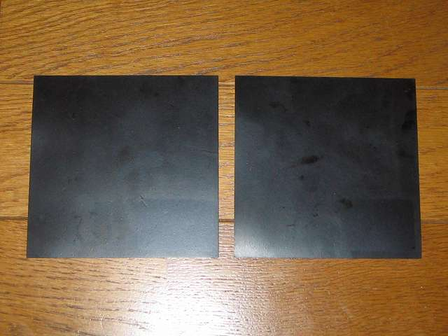東京防音 天然ゴムシート板 NR-5 100mm×100mm×厚1mm 開封後 貼付シール剥離後