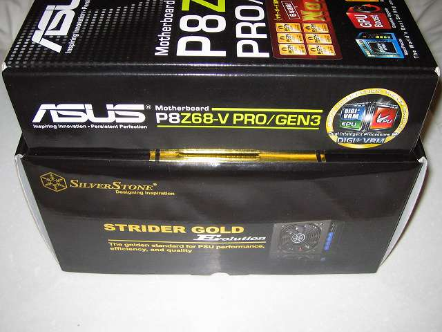 SilverStone STRIDER Gold Evolution SST-ST75F-G-E 大きさ比較 その2