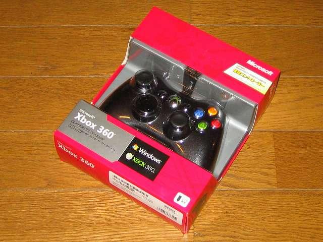 [モンスターハンター フロンティアオンライン推奨] マイクロソフト有線 ゲーム コントローラーXbox 360 Controller for Windows リキッド ブラック 52A-00006 パッケージ開封前