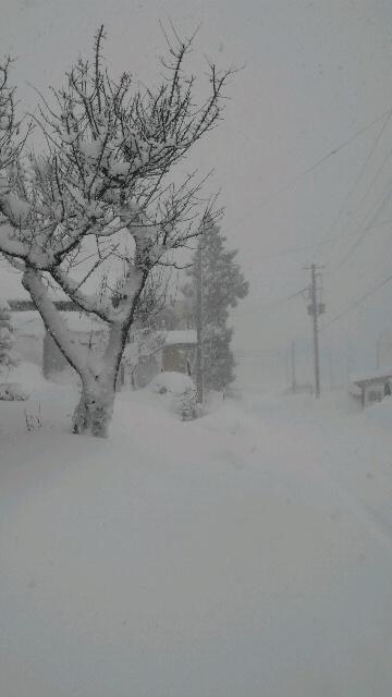 12月18日の大雪 東口に行く道