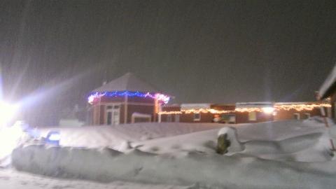 12月22日の雪とイルミネーション