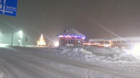 12月22日の雪の交流館
