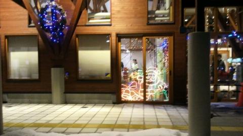 坂下湯川の道の駅のクリスマスイルミネーション