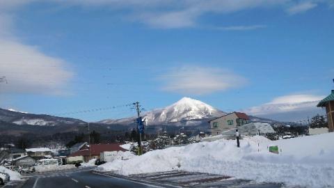 クリスマスイヴの磐梯山晴れ