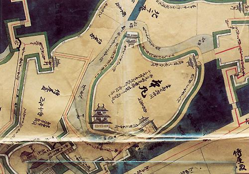正保城絵図(本丸付近)