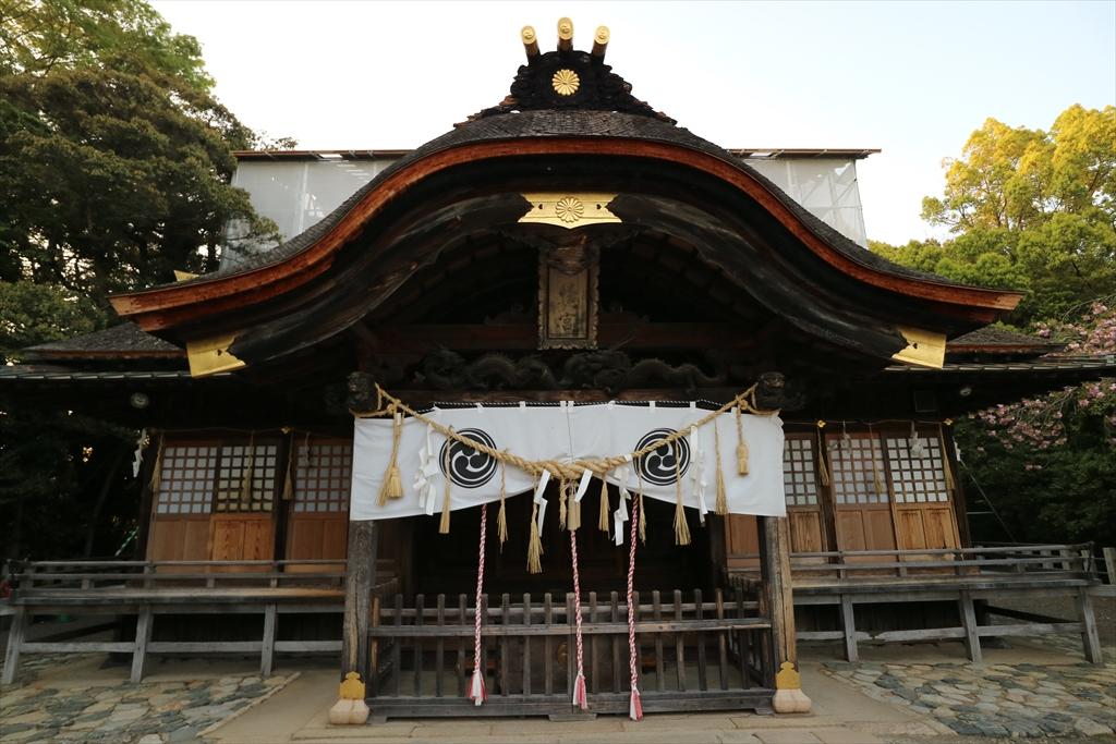 拝殿(いわき市指定有形文化財)