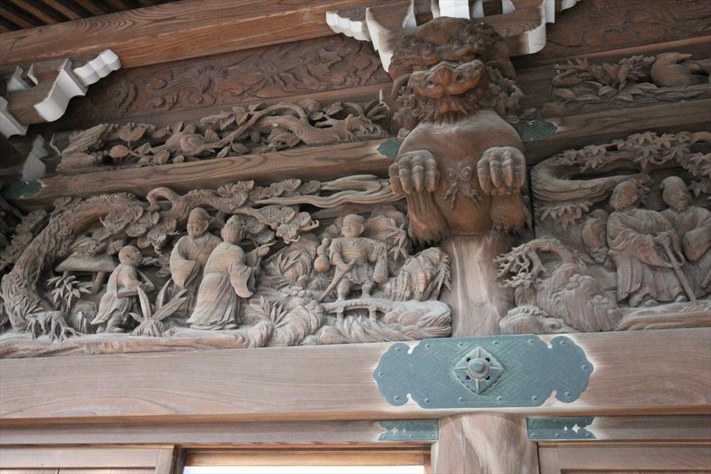 幣殿部分の彫刻_左側_5