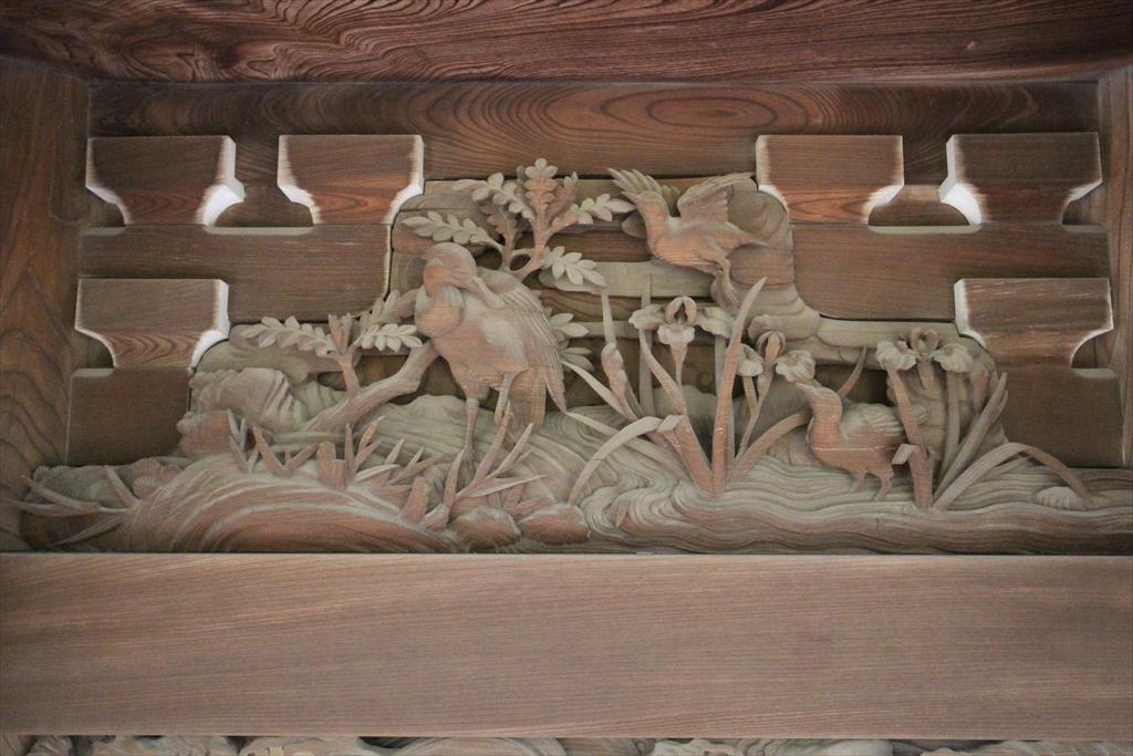 『篦鷺、花菖蒲(春)』