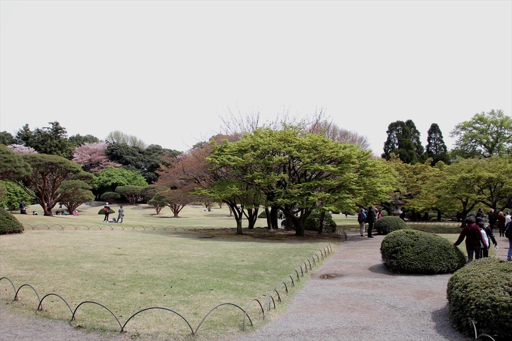 日本庭園の北側はこんな感じ