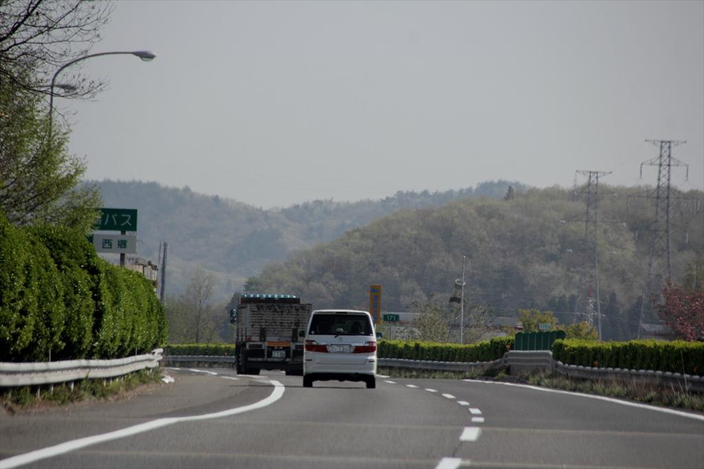 漸く福島県に入った