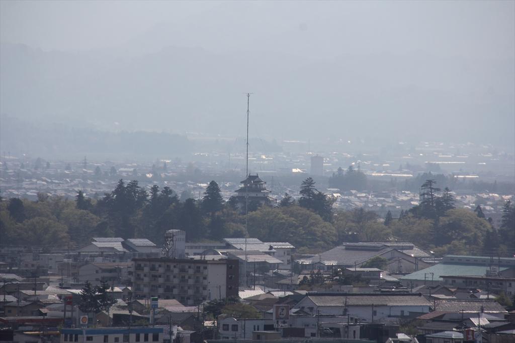 その場所から見た鶴ヶ城