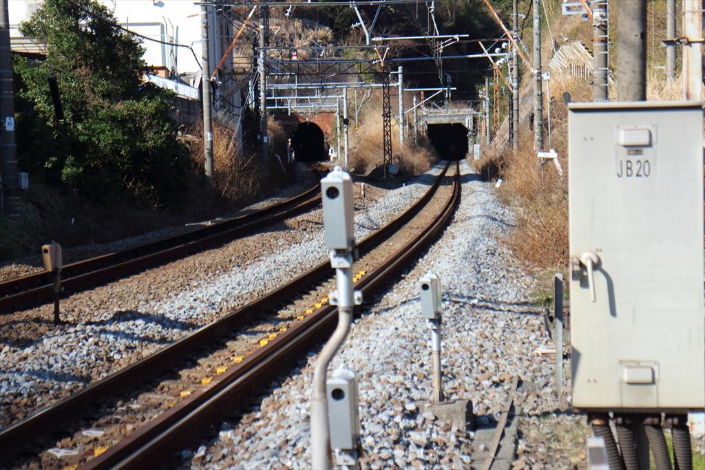 横須賀線のトンネル