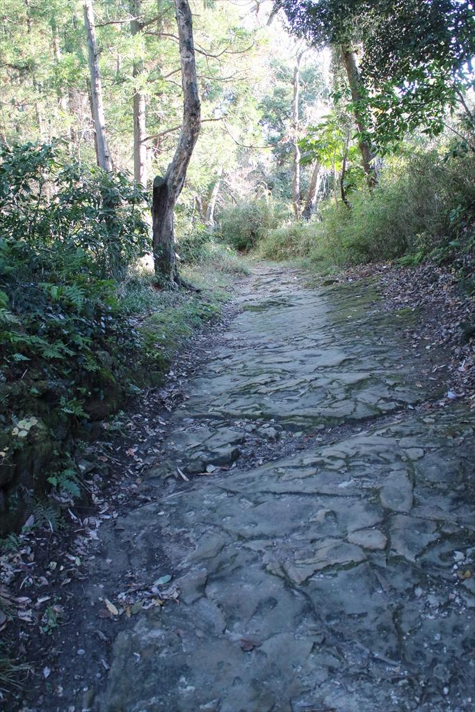 ここから路面が自然石の道に変わる_1