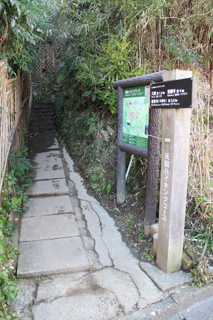 天園ハイキングコースの入口_2