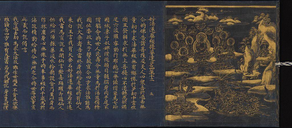 第十二:提婆達多品(だいばだったほん)『龍女成佛の図』の参考図かな