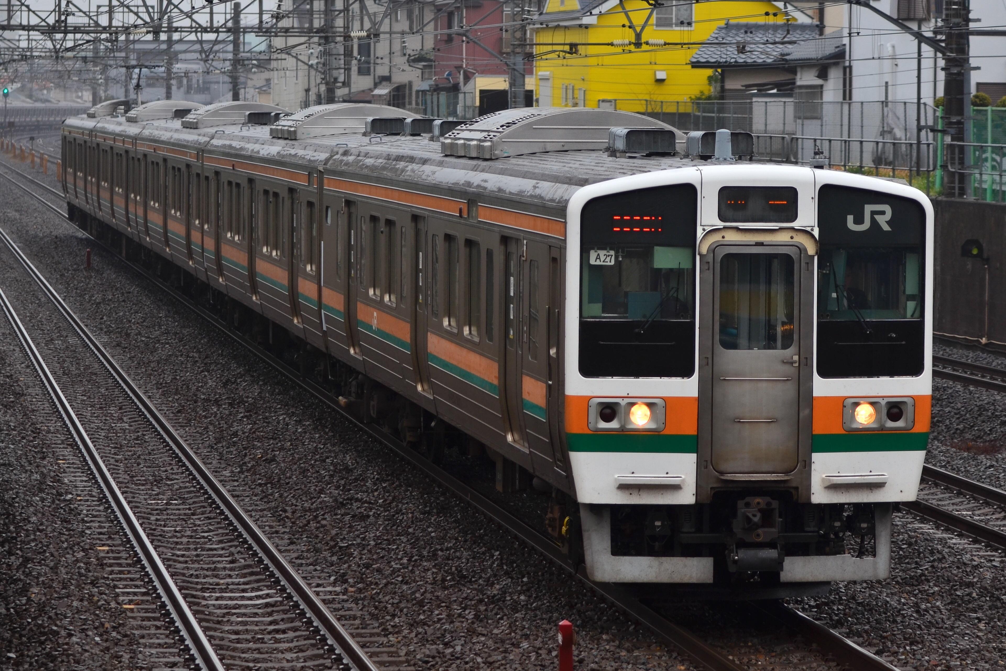 回9386M 211系高タカA27編成 稲毛 ...