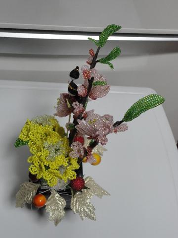 桃と菜の花⑥