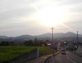 県境の山々