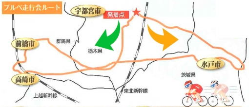 ランドネきたかん北関東400kmブルベ コース図