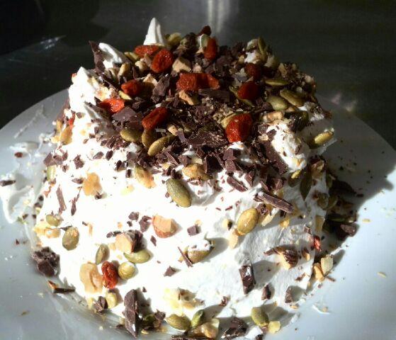 おからケーキをデコレージョン