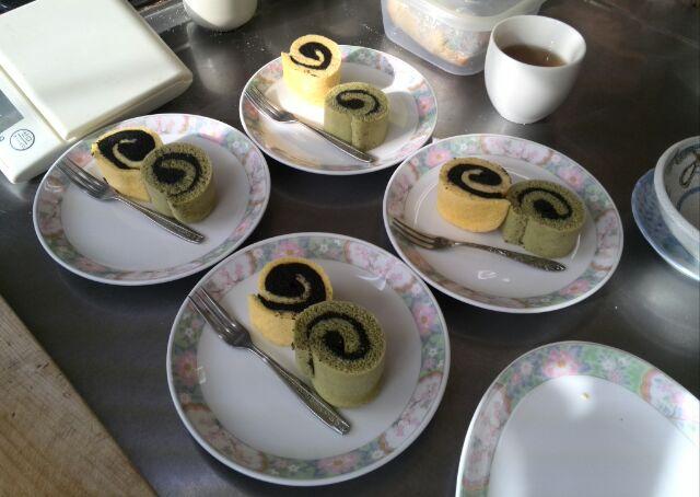 恵方ロール2種&抹茶ラテ