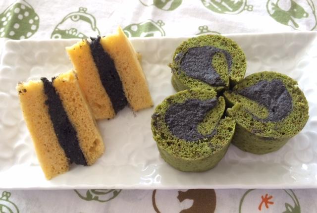 Oさん作和風ロールケーキ&シベリア