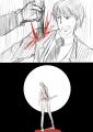 肩にナイフを刺される_満月を背に立つユメの残骸