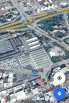 クルシュンル温泉行きのバス停場所地図