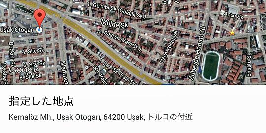 ウシャクのオトガルと博物館の位置関係地図