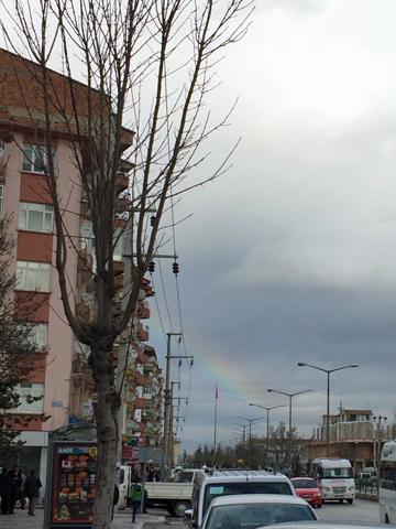 アフィヨンで虹