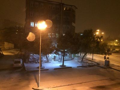 吹雪いてる