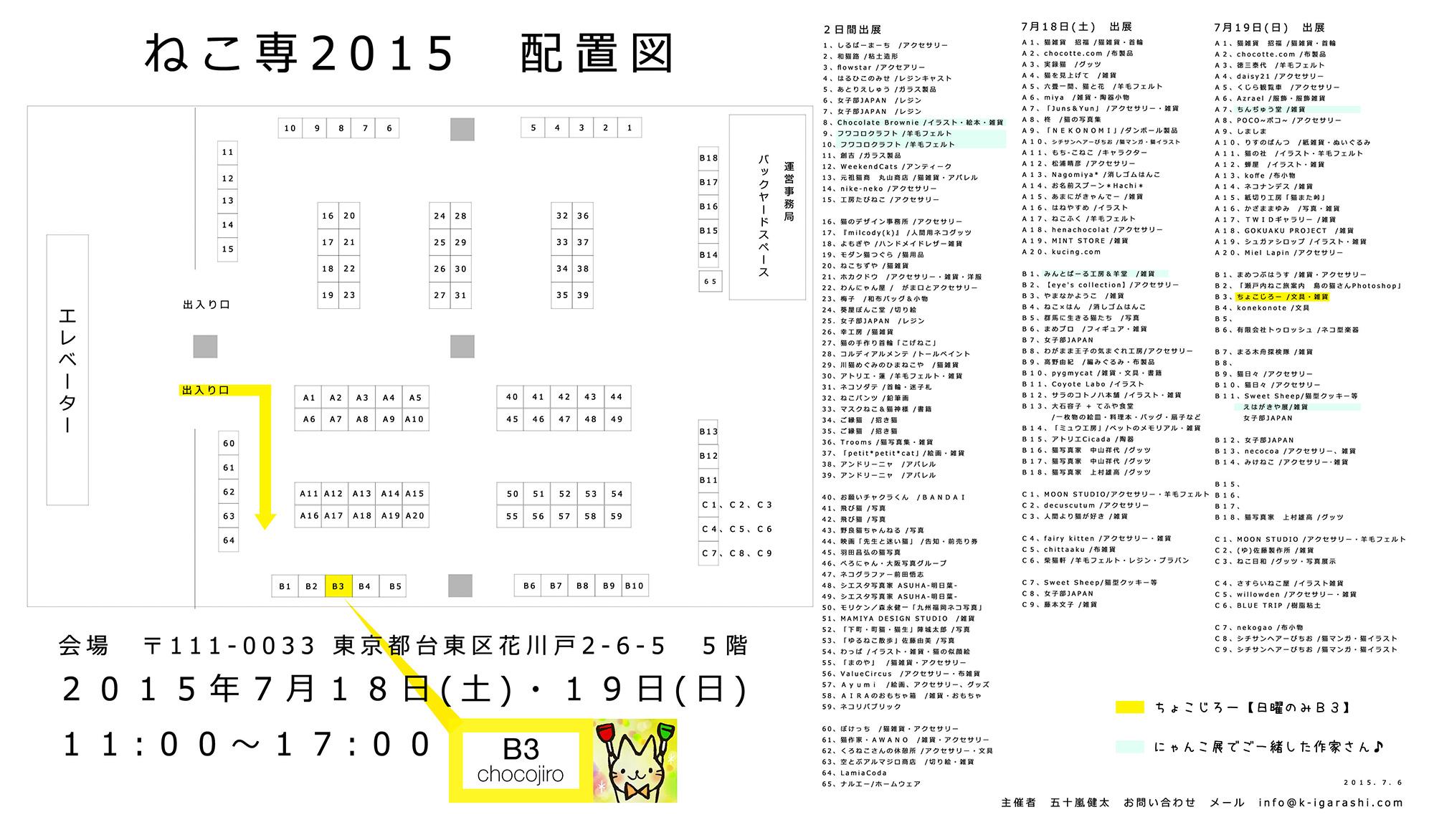 ねこ専2015_ちょこじろーブース