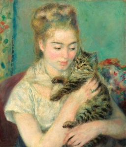 renoir Woman with a Cat