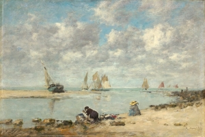 boudin Washerwoman near Trouville